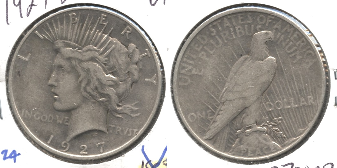 1927-D Peace Silver Dollar VF-20 #g