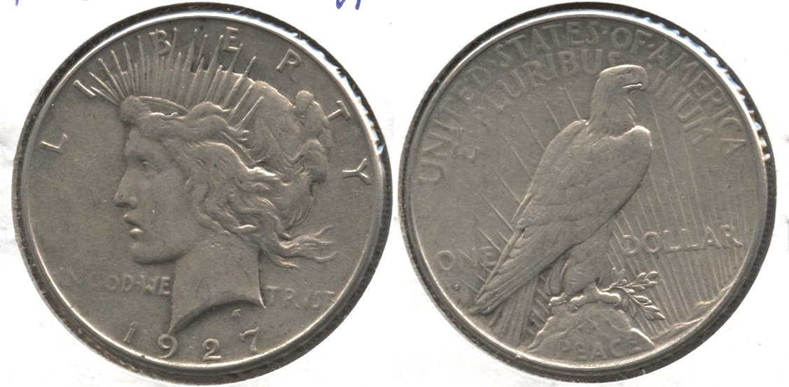 1927-D Peace Silver Dollar VF-20 #k