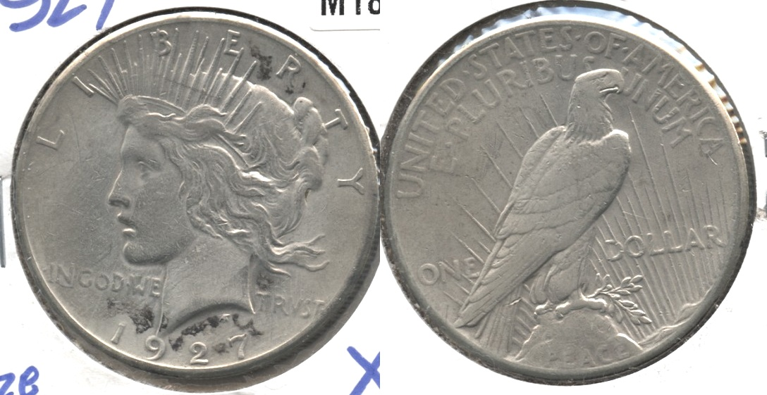 1927 Peace Silver Dollar EF-40 Cleaned #a