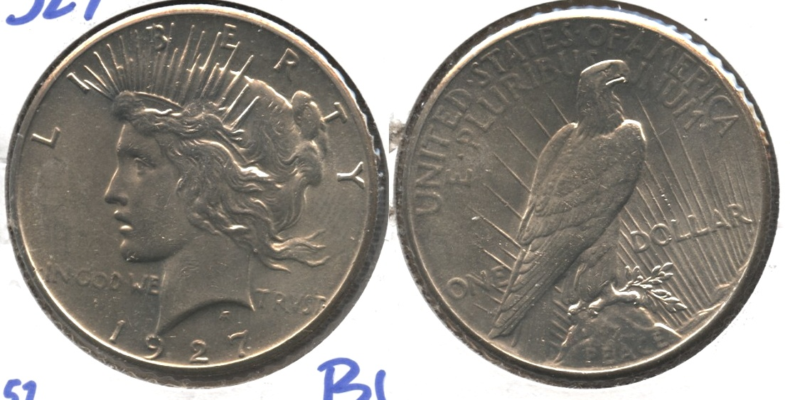 1927 Peace Silver Dollar MS-60 #c
