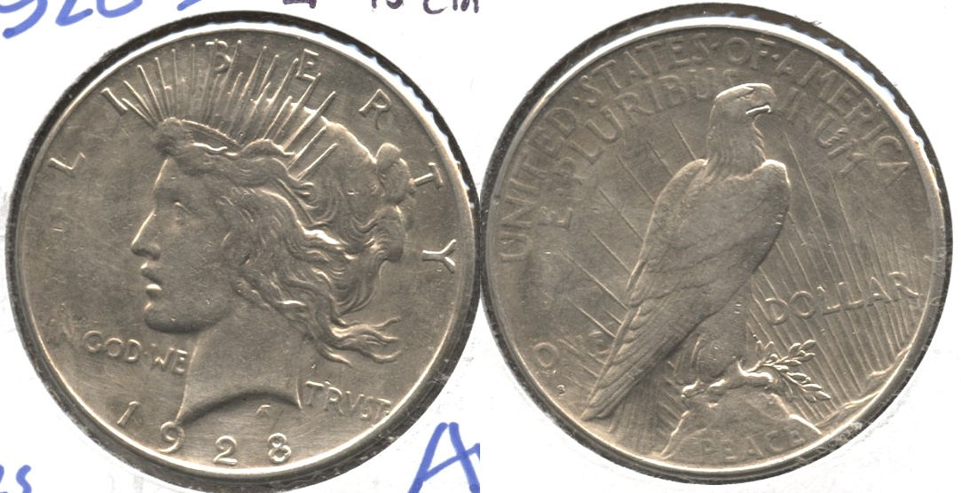 1928-S Peace Silver Dollar EF-45 Cleaned