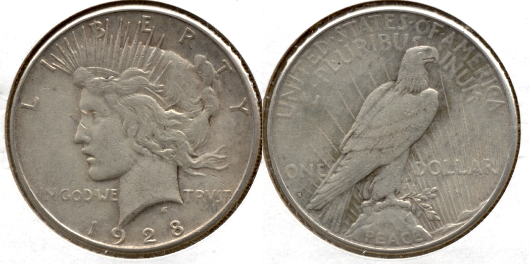 1928-S Peace Silver Dollar VF-20