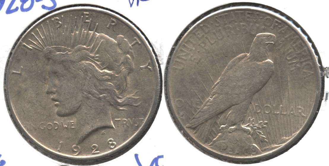 1928-S Peace Silver Dollar VF-20 #i