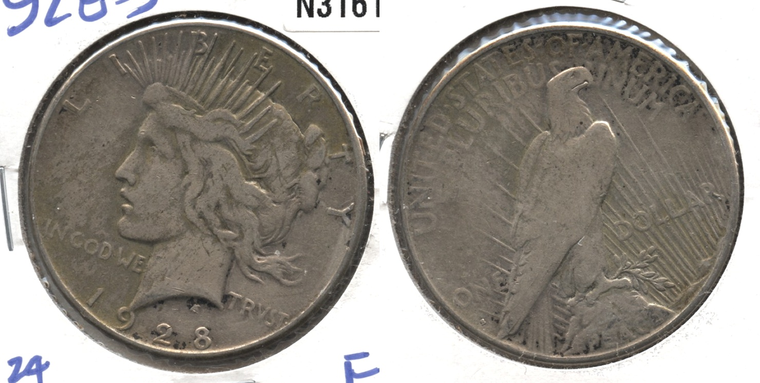 1928-S Peace Silver Dollar VG-8 #f
