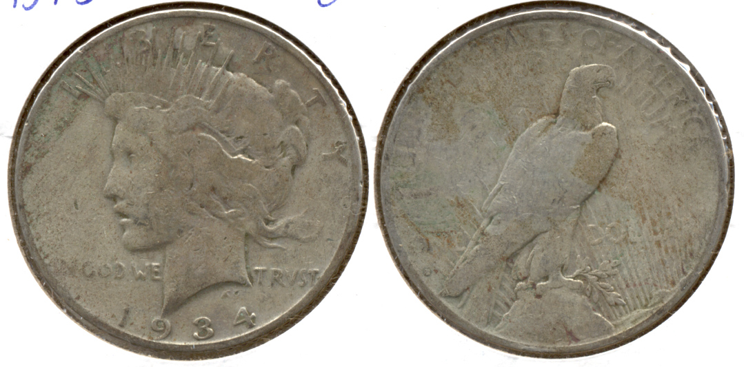 1934-S Peace Silver Dollar Good-4 a