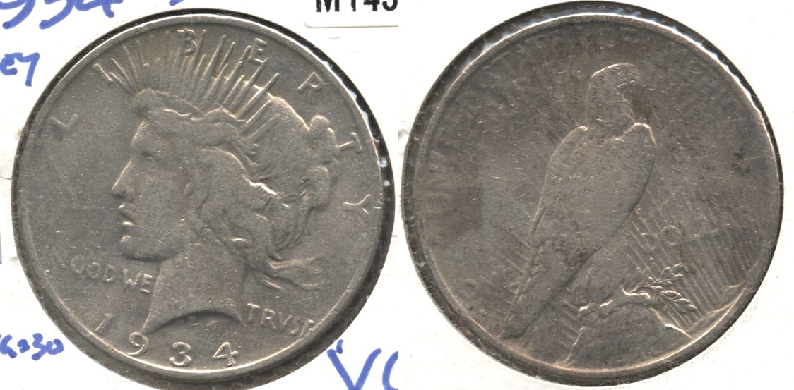 1934-S Peace Silver Dollar VG-8 Rough #l