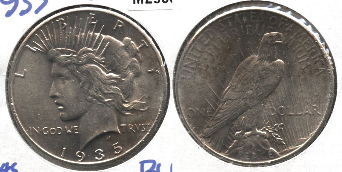 1935 Peace Silver Dollar MS-60 #h