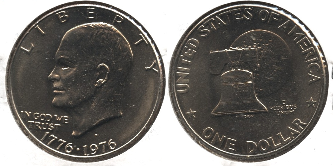 1976-D Type 1 Eisenhower Dollar Mint State