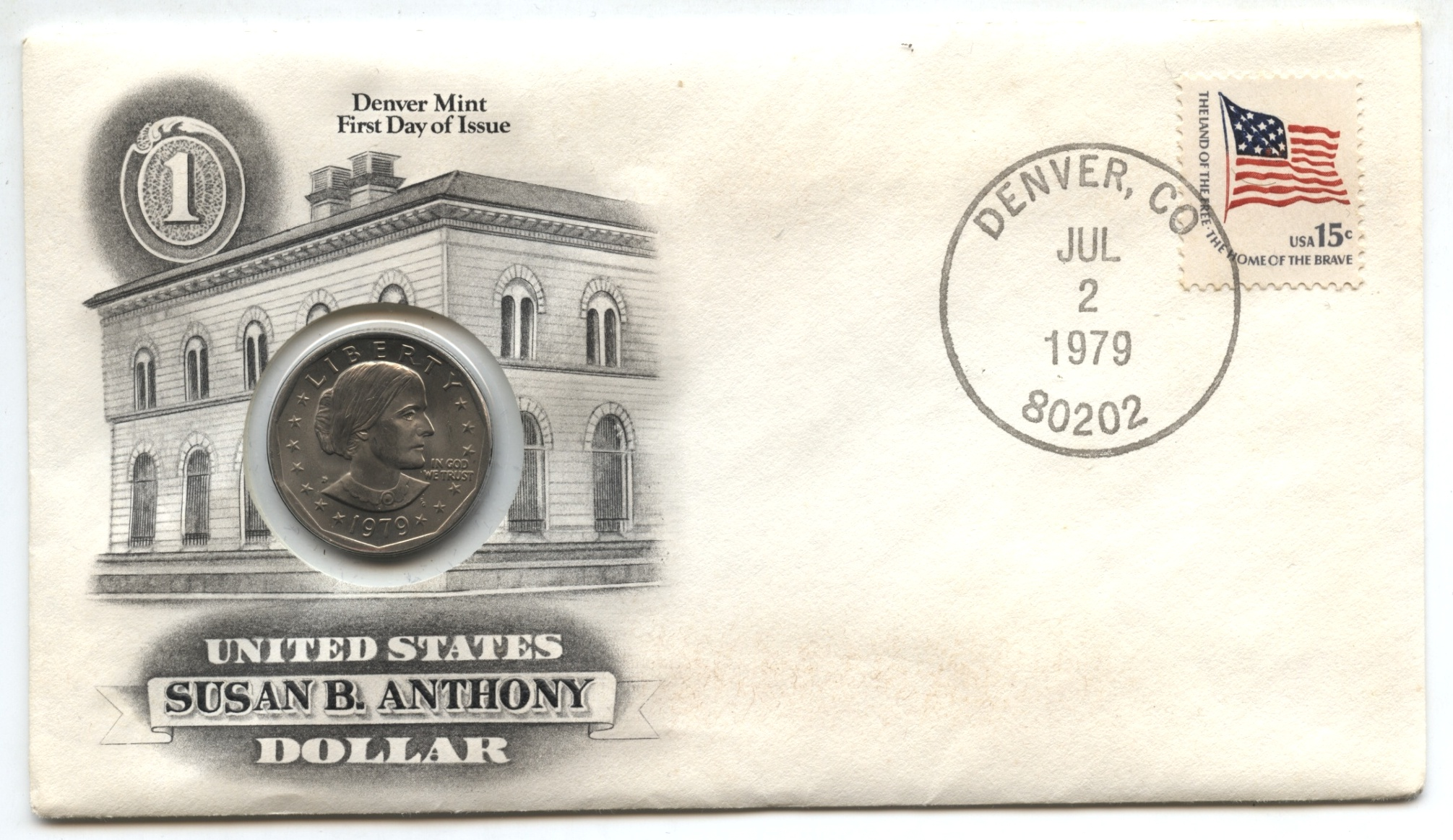 1979-D Anthony Dollar First Day Cover