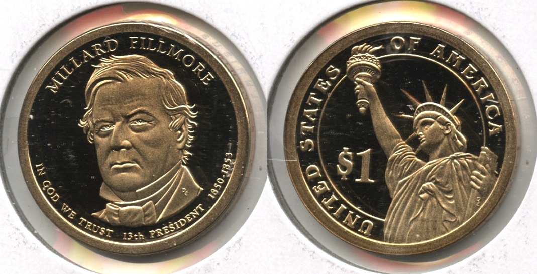 2010-S Millard Fillmore Presidential Dollar Proof