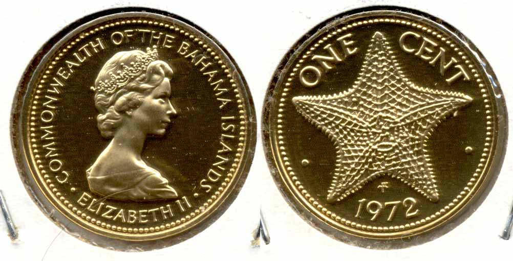 1972 Bahamas 1 Cent Proof