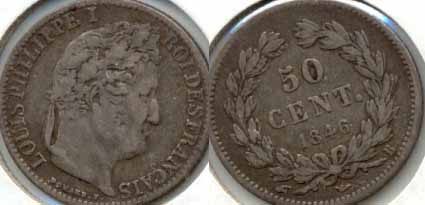 1846-B France 50 Centimes Fine-12