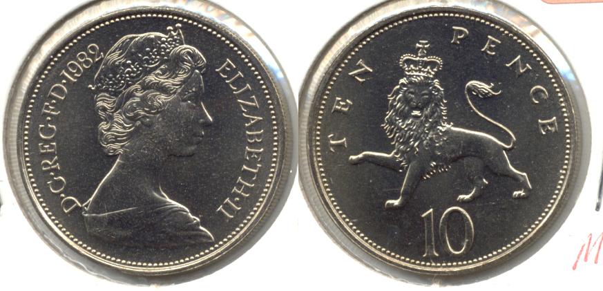 1982 Great Britain 10 Pence MS-60
