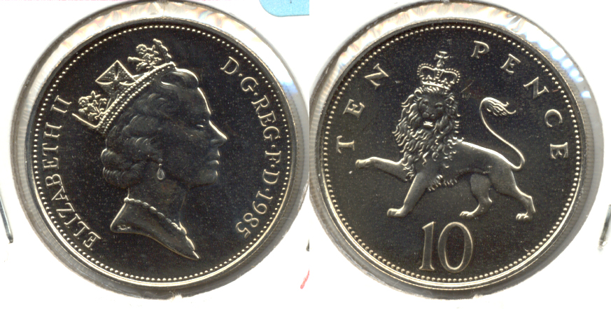 1985 Great Britain 10 Pence MS-60