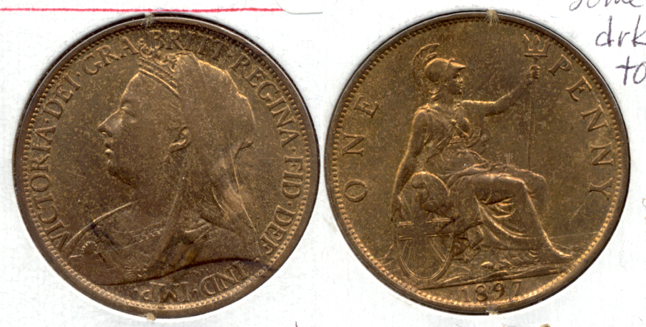 1897 Great Britain 1 Penny MS-60