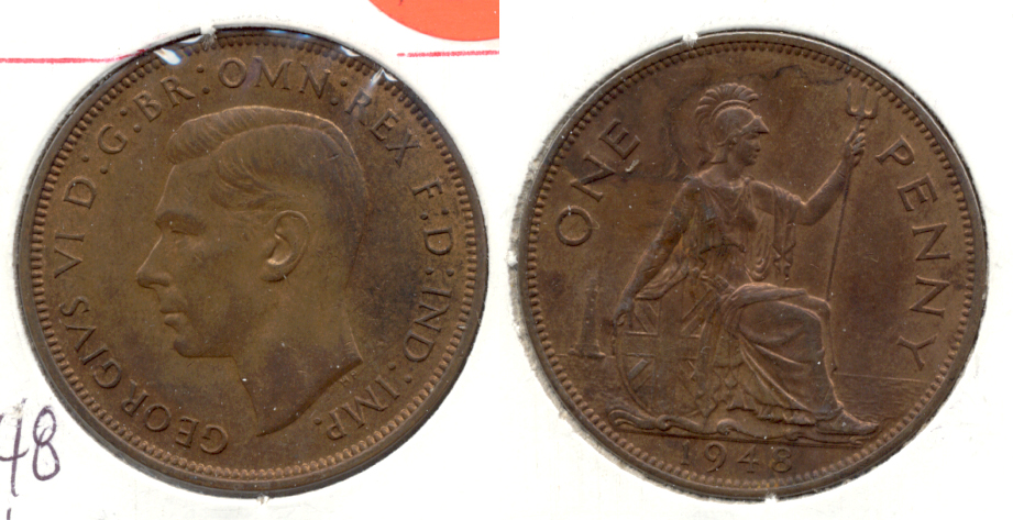 1948 Great Britain 1 Penny AU-50