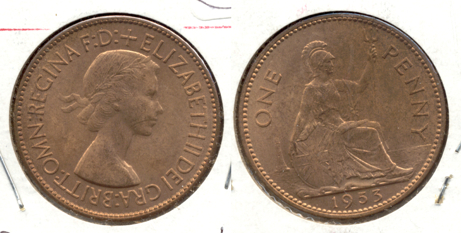 1953 Great Britain 1 Penny MS-60