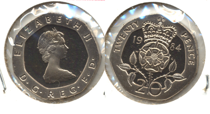 1984 Great Britain 20 Pence Proof