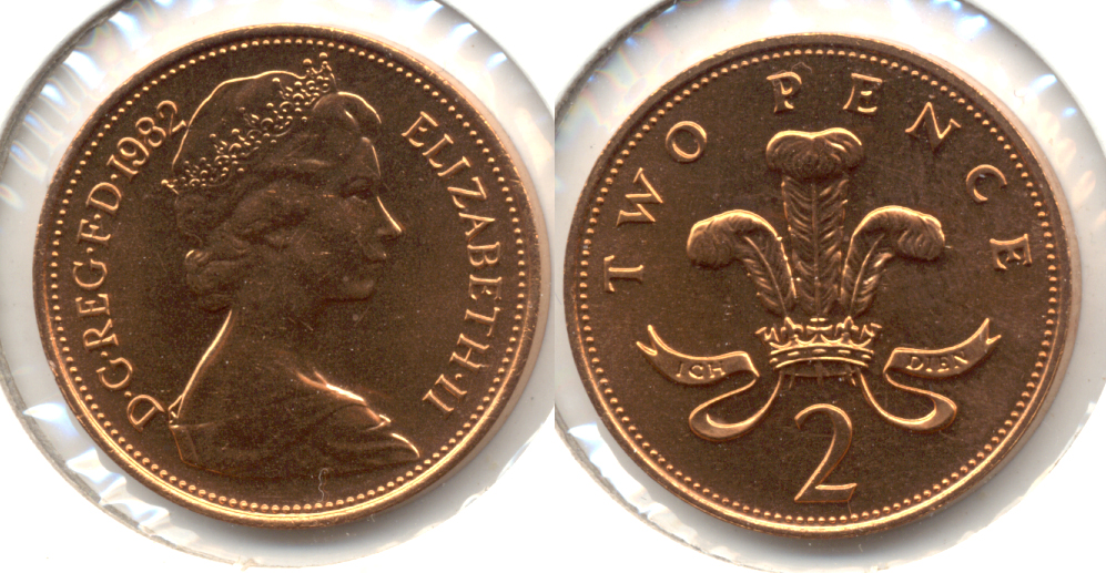 1982 Great Britain 2 Pence MS-60