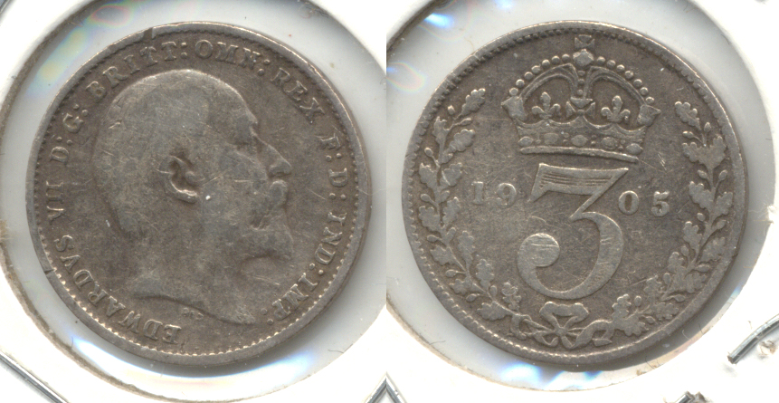 1905 Great Britain 3 Pence Fine-12