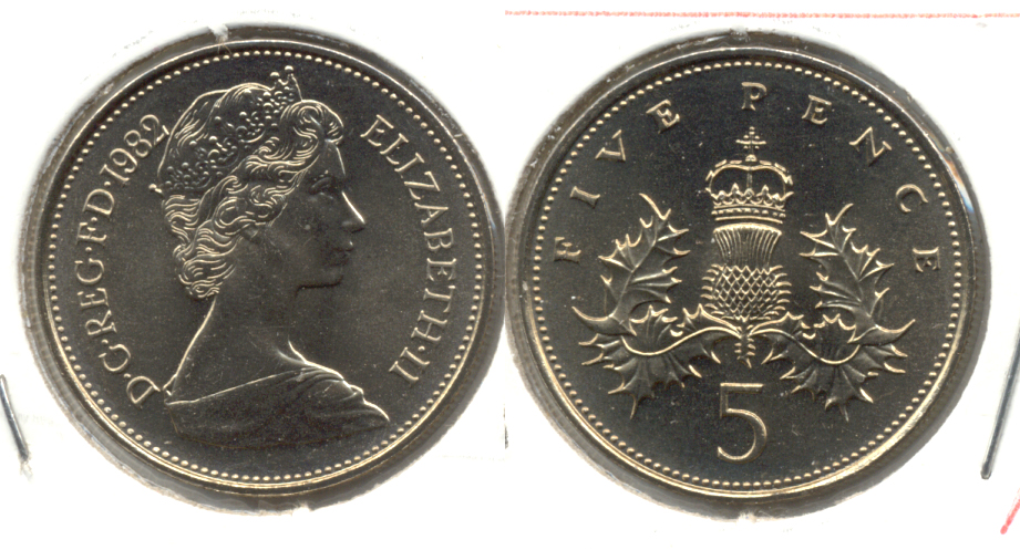 1982 Great Britain 5 Pence MS-60 a