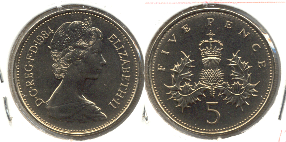 1984 Great Britain 5 Pence MS-60