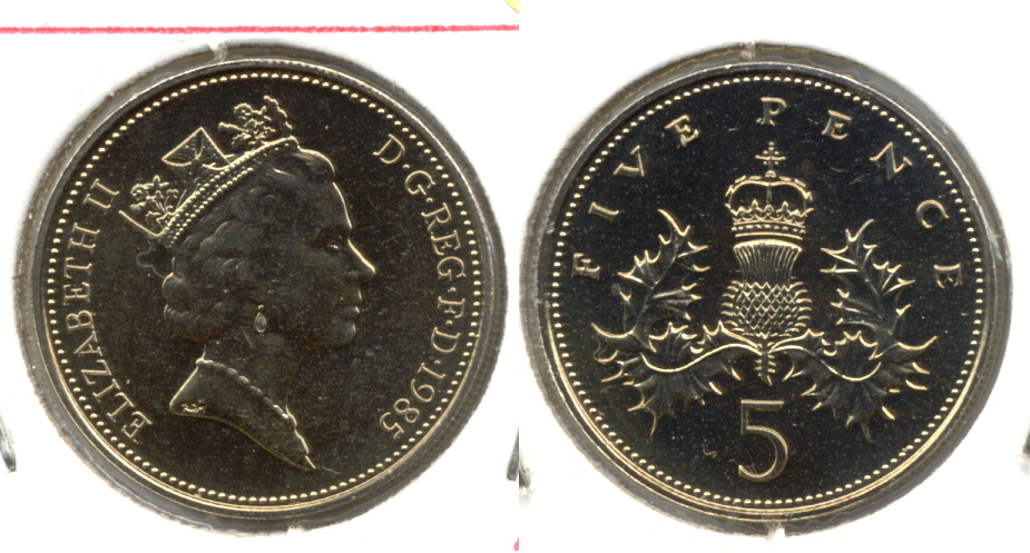 1985 Great Britain 5 Pence MS-60