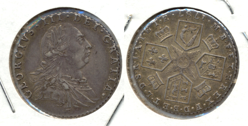 1787 Great Britain 6 Pence VF-30