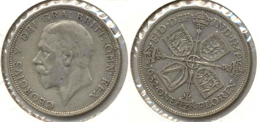 1932 Great Britain Florin VF-20