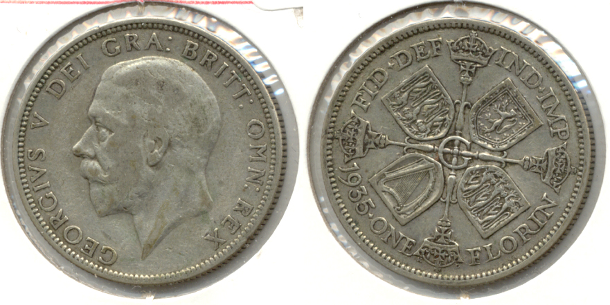 1935 Great Britain Florin VF-20