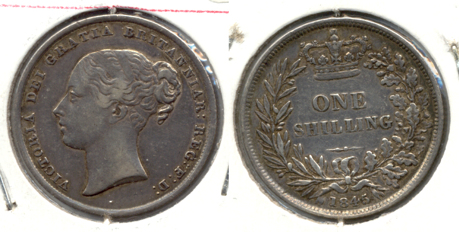 1845 Great Britain Shilling VF-30