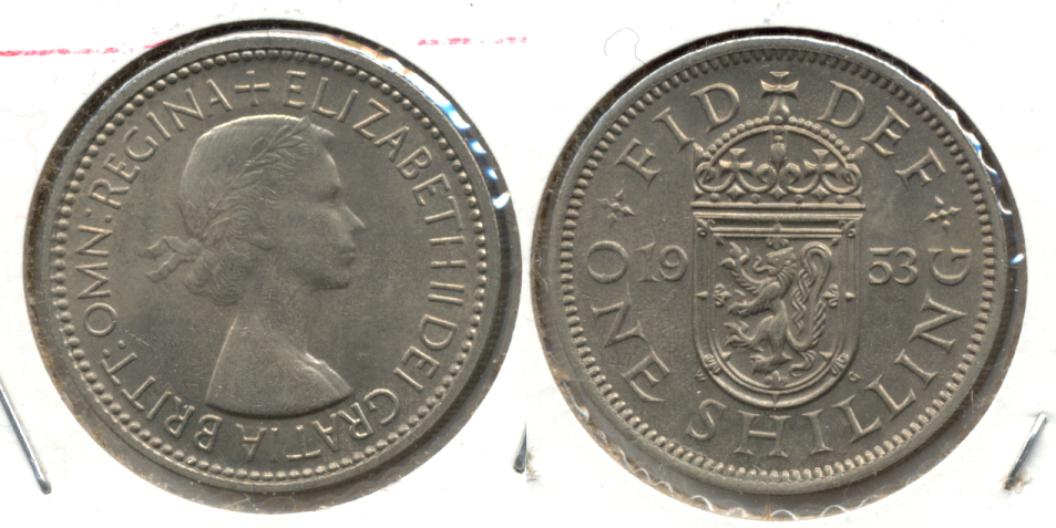 1953 English Crest Great Britain Shilling MS-60