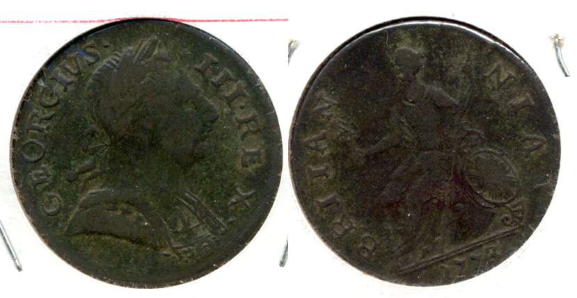 1773 Great Britain Half Penny VF-20
