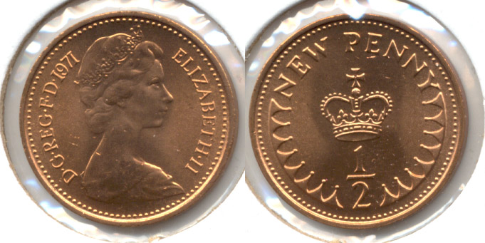 1971 Great Britain Half Penny MS