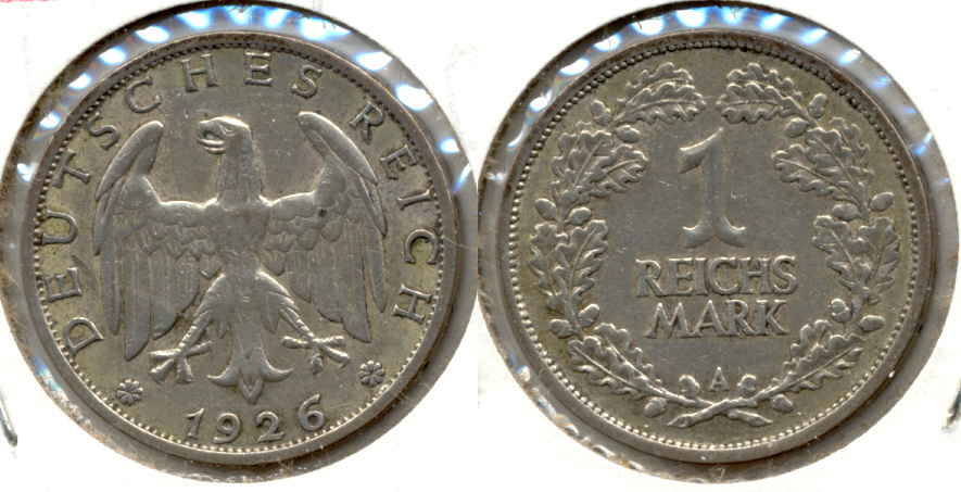 1926-A Germany 1 Mark VF-20