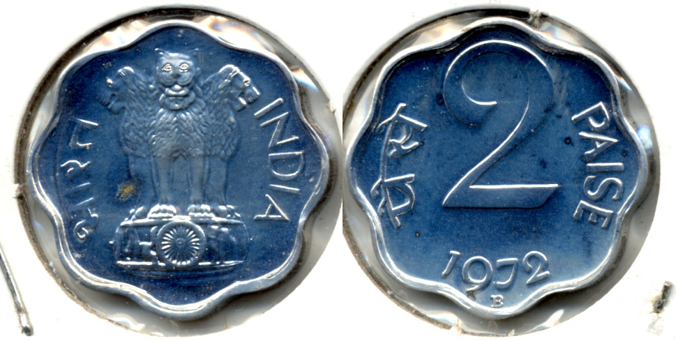 1972 India 2 Paise Proof