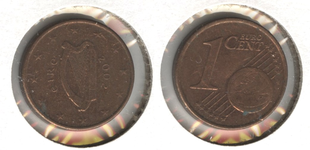2002 Ireland 1 Euro Cent EF-40