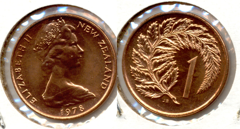 1978 New Zealand 1 Cent MS-60