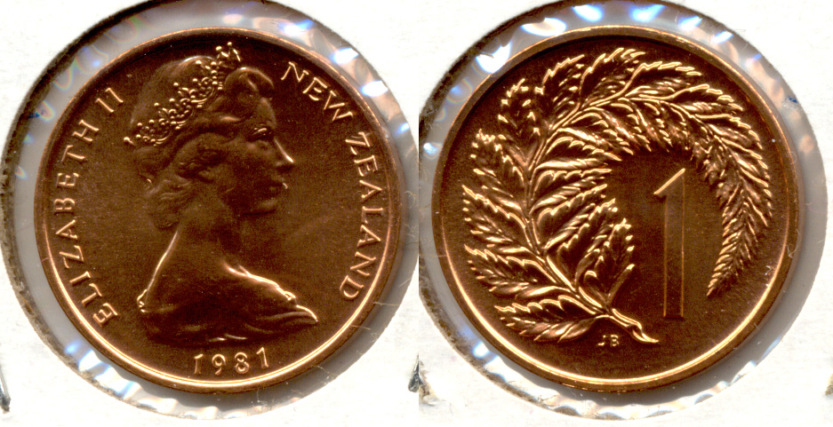1981 New Zealand 1 Cent MS-60