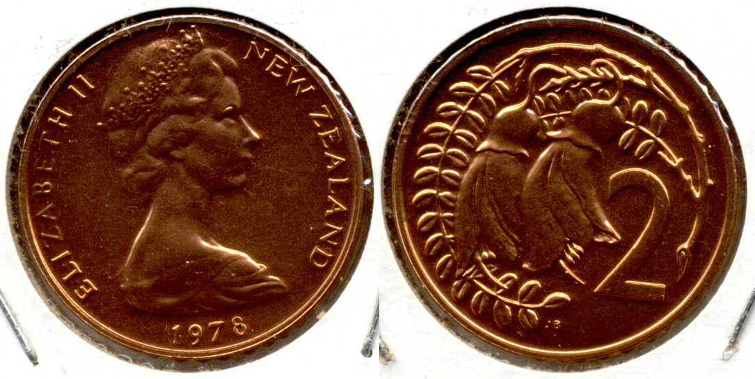 1978 New Zealand 2 Cents MS-60
