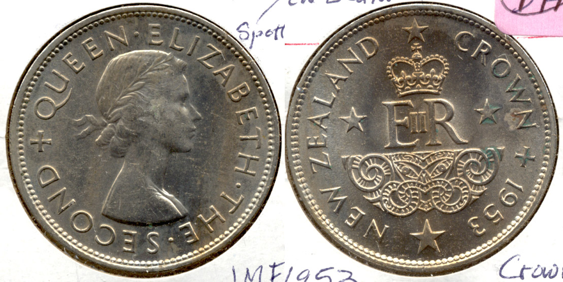 1953 New Zealand Crown MS-60