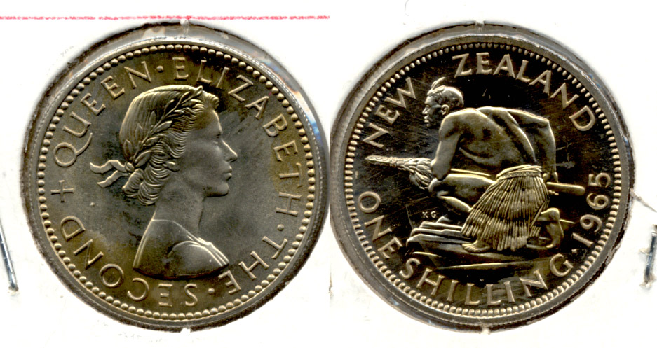 1965 New Zealand Shilling MS-60