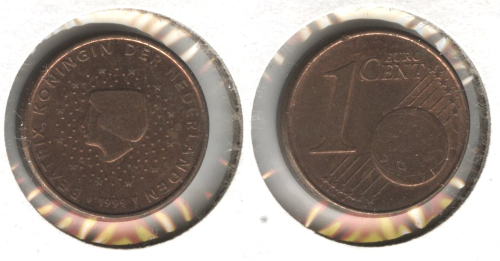 1999 Netherlands 1 Euro Cent EF-40