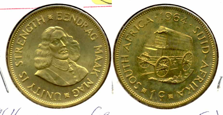 1964 South Africa 1 Cent Proof