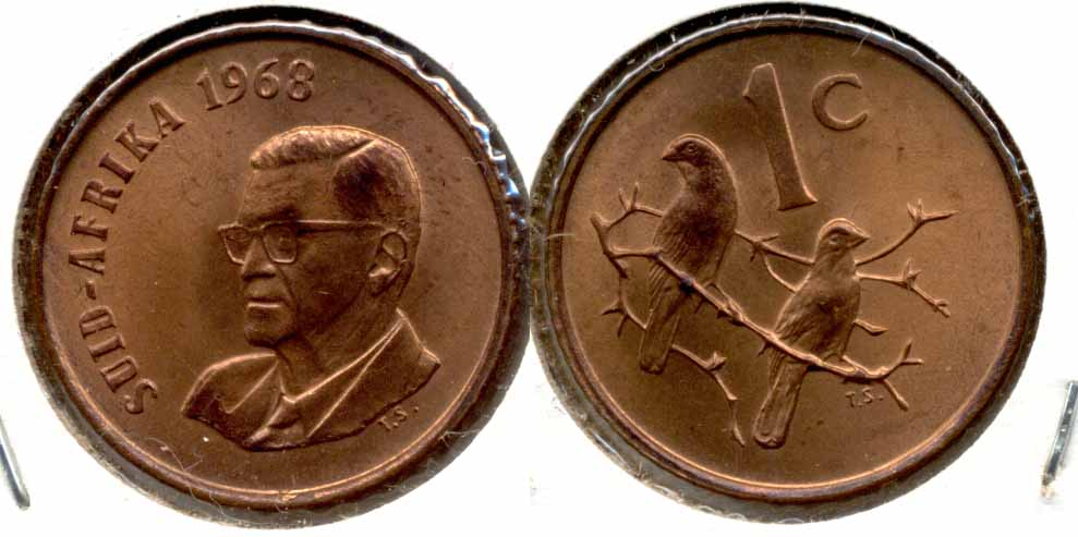 1968 South Africa 1 Cent Afrikaans MS