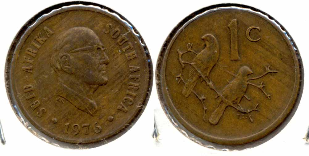 1976 South Africa 1 Cent EF-40