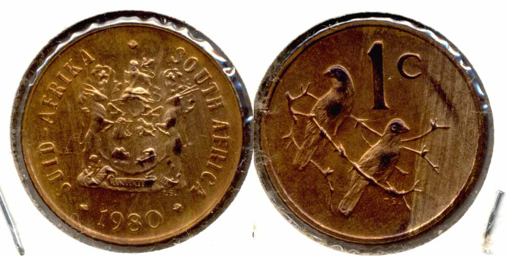 1980 South Africa 1 Cent MS