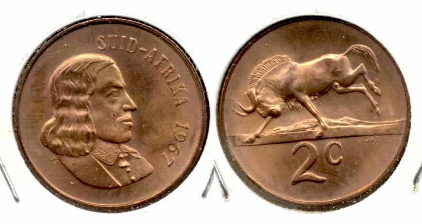 1967 South Africa 2 Cents Afrikaans MS