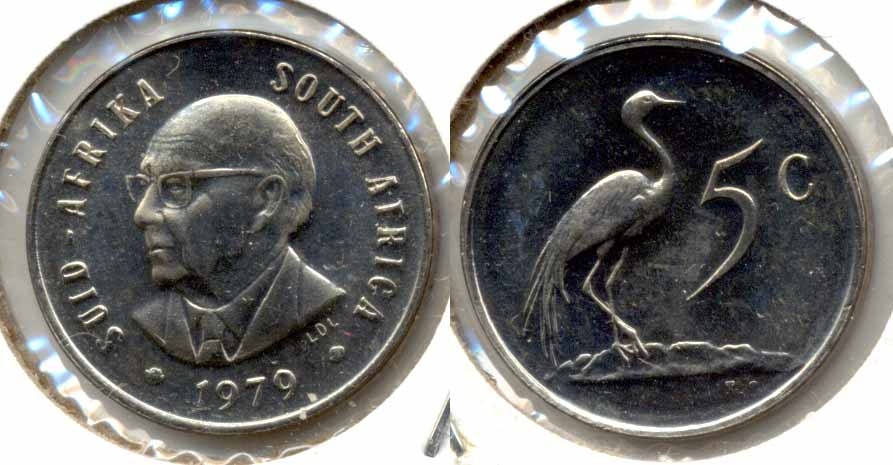 1979 South Africa 5 Cents MS