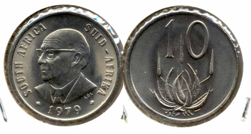 1979 South Africa 10 Cents MS